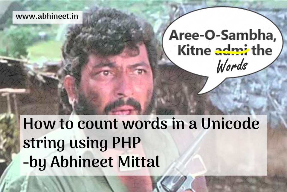 How to count words in Unicode string using PHP?